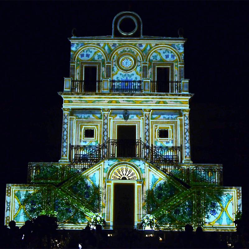 Wedding Video Mapping Villa Fegotto